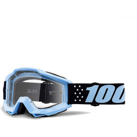 100% Accuri Anti Fog Clear Maschera blu